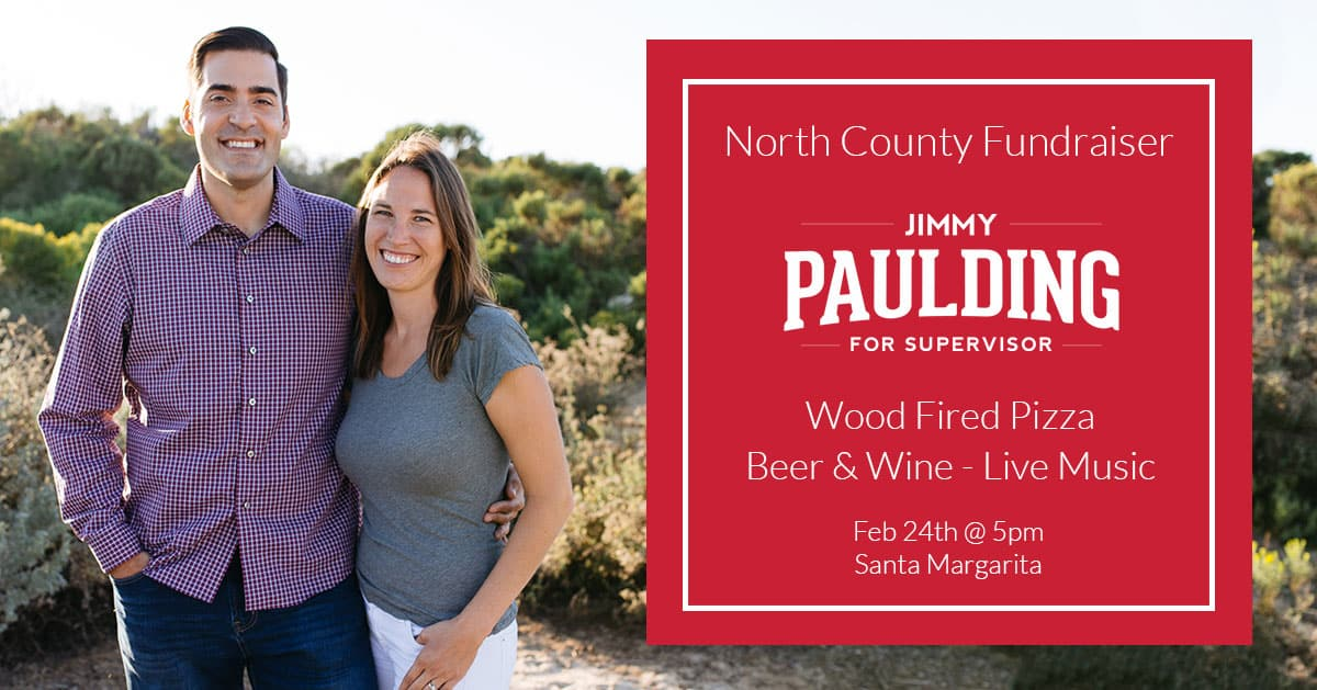 North County Fundraiser with Jimmy Paulding